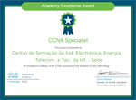 "ACADEMIA CISCO DO CINEL DISTINGUIDA COM ""EXCELÊNCIA"""